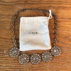 J. Crew statement crystal necklace